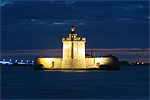 The Fort Louvois by night
