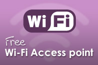 Holiday home rental with free WiFi access point